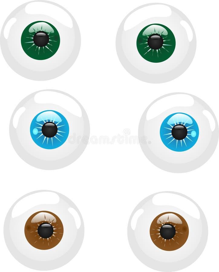 illustration de globe oculaire illustration libre de droits