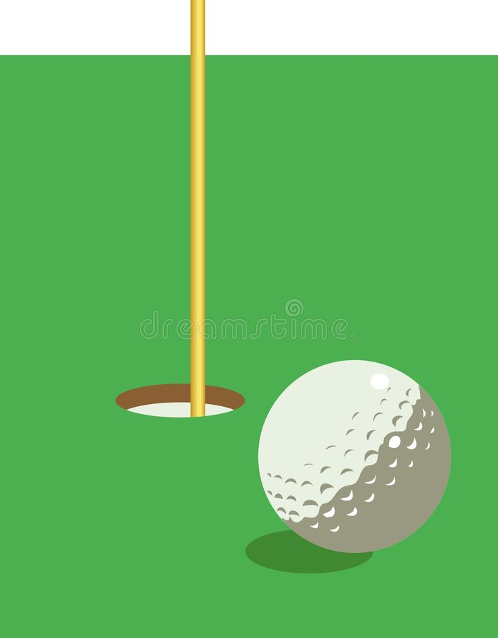 Illustration de golf illustration libre de droits