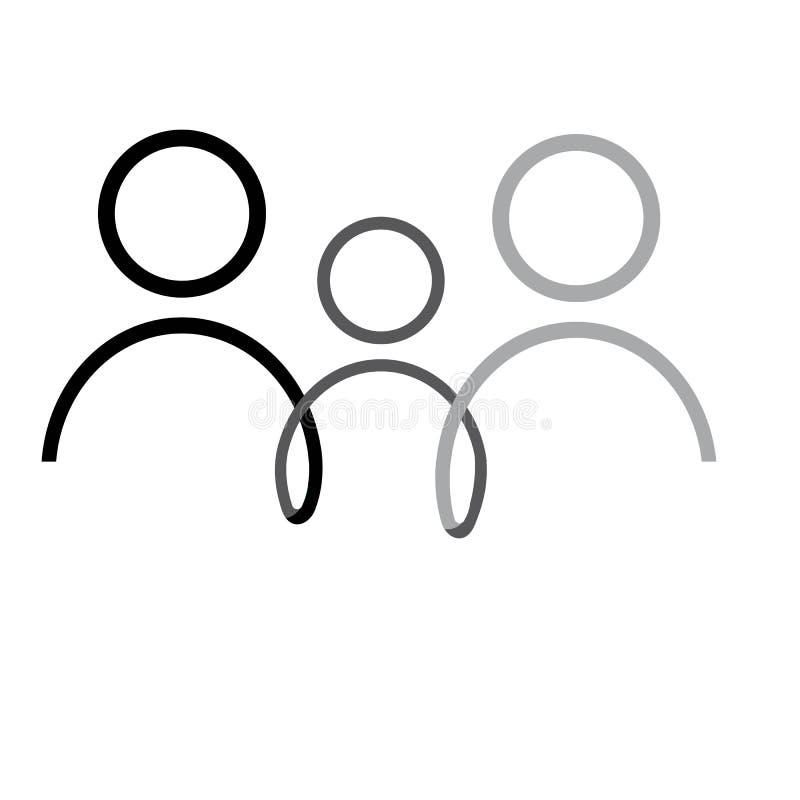 Illustration de graphique de vecteur de calibre de conception d'ic?ne de famille illustration libre de droits