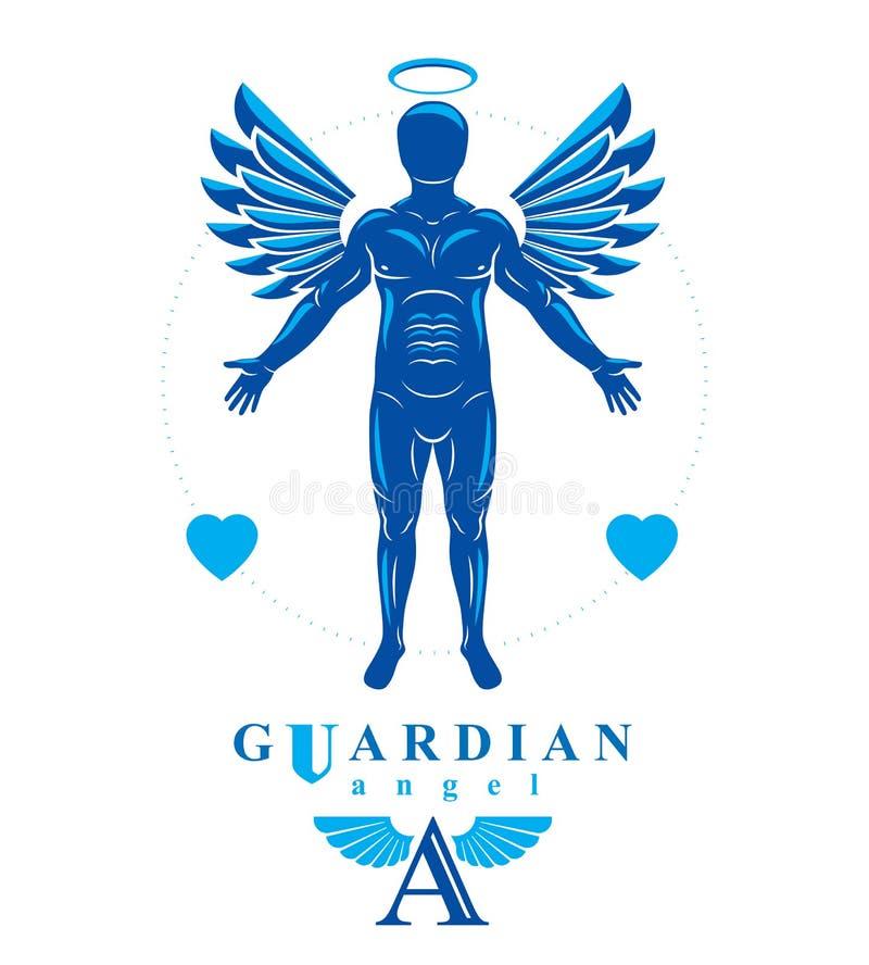 Illustration de graphique de vecteur d'humain musculaire faite utilisant angélique illustration stock