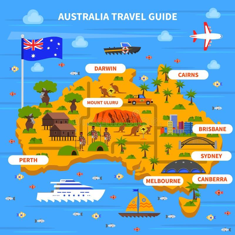 Illustration de guide de voyage d'Australie illustration libre de droits