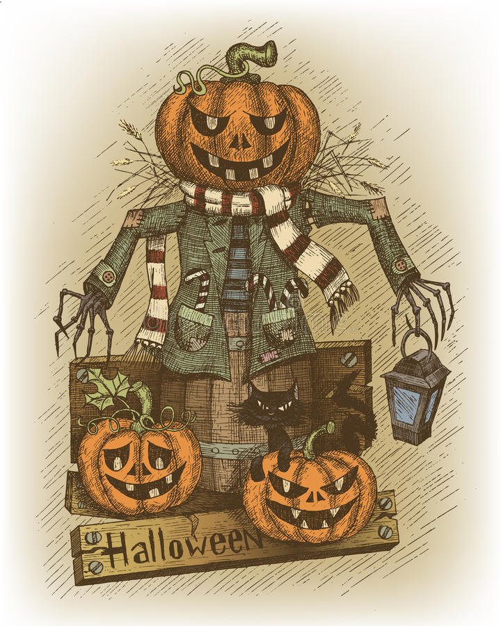 Illustration de Halloween dessinée à la main illustration stock