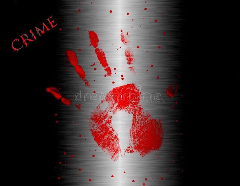 Illustration de handprint sanglant illustration de vecteur