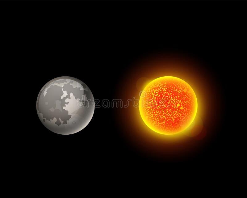 Illustration de haute qualité de vecteur d'étoile d'orbite de globe de science de la terre d'astronomie de galaxie de planète du  illustration de vecteur
