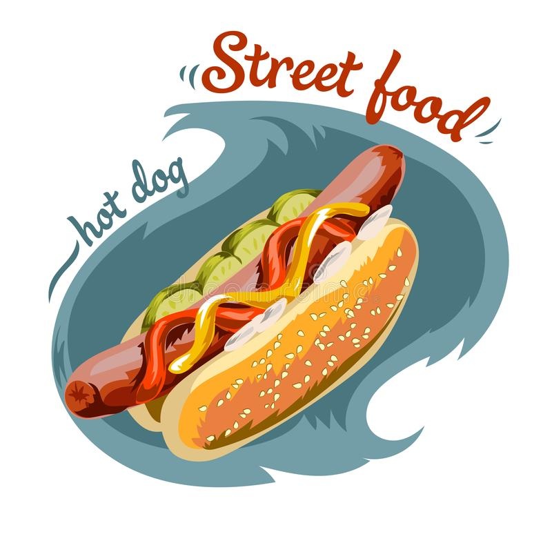 Illustration de hot dog de vecteur illustration libre de droits
