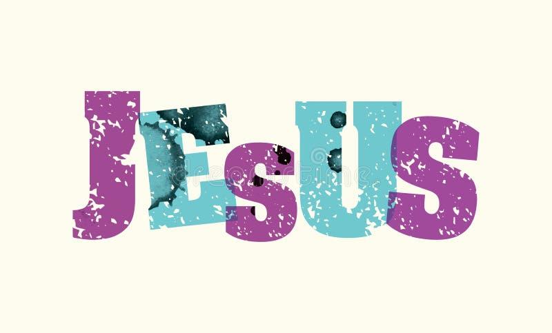 Illustration de Jesus Concept Stamped Word Art illustration de vecteur