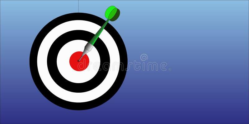 Illustration de jeu de dard illustration stock