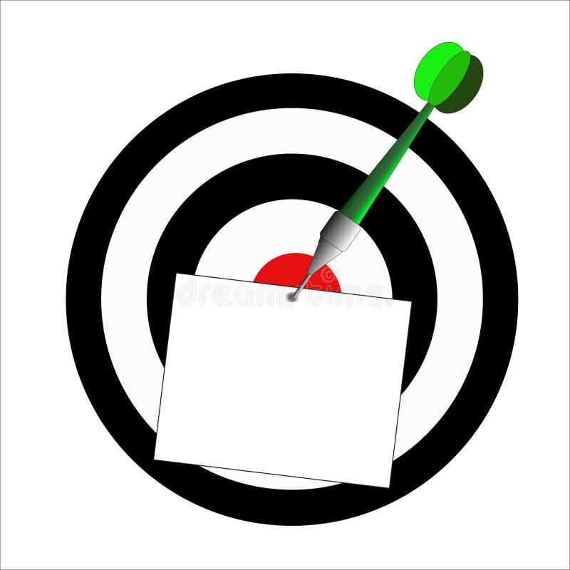 Illustration de jeu de dard illustration libre de droits