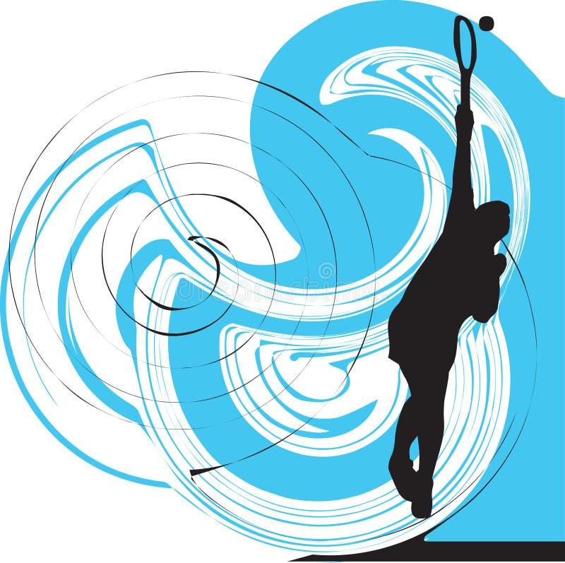 Illustration de joueurs de tennis. illustration de vecteur