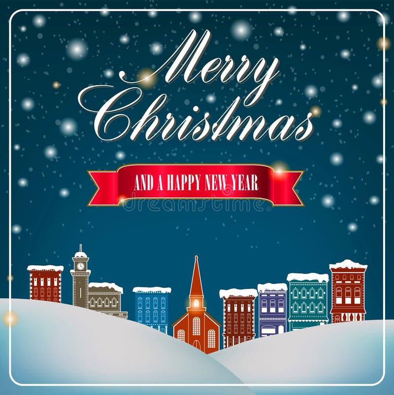 Illustration de Joyeux Noël et de bonne année illustration de vecteur