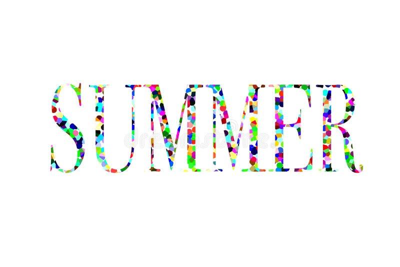 Illustration de l'été de mot photo libre de droits