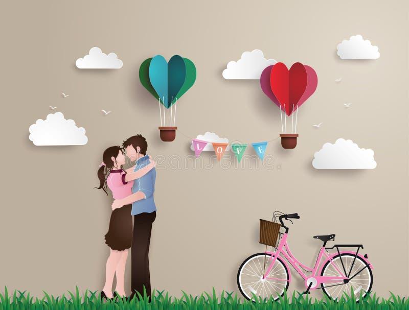 Illustration de l'amour et du jour du ` s de valentine illustration de vecteur