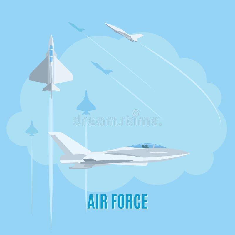 Illustration de l'Armée de l'Air illustration stock