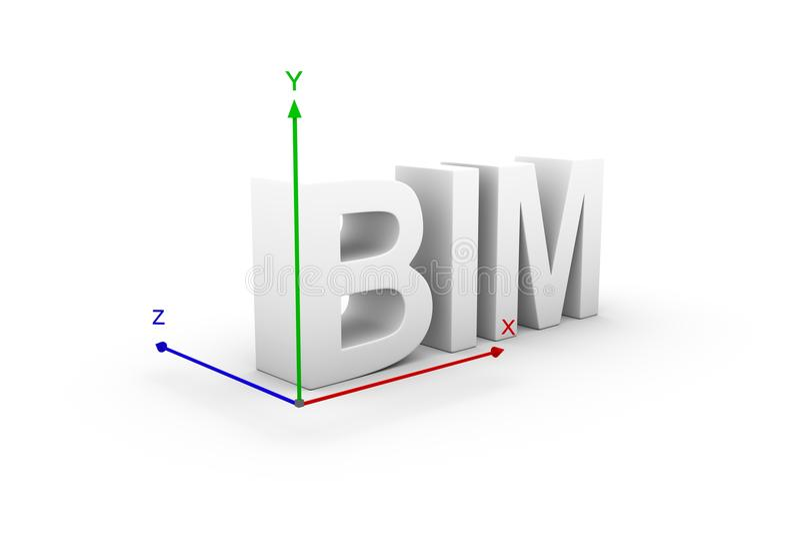 Illustration de l'axe 3d de BIM illustration de vecteur
