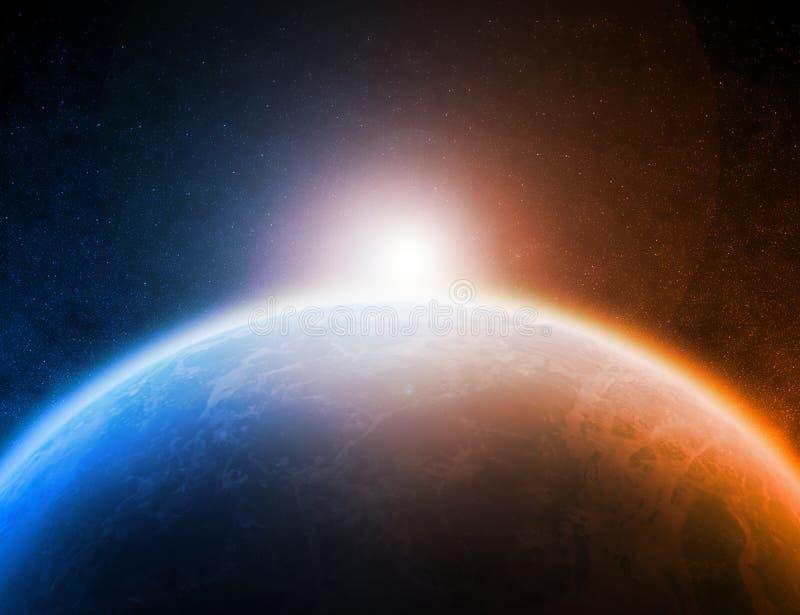 Illustration de l'espace de planète illustration de vecteur