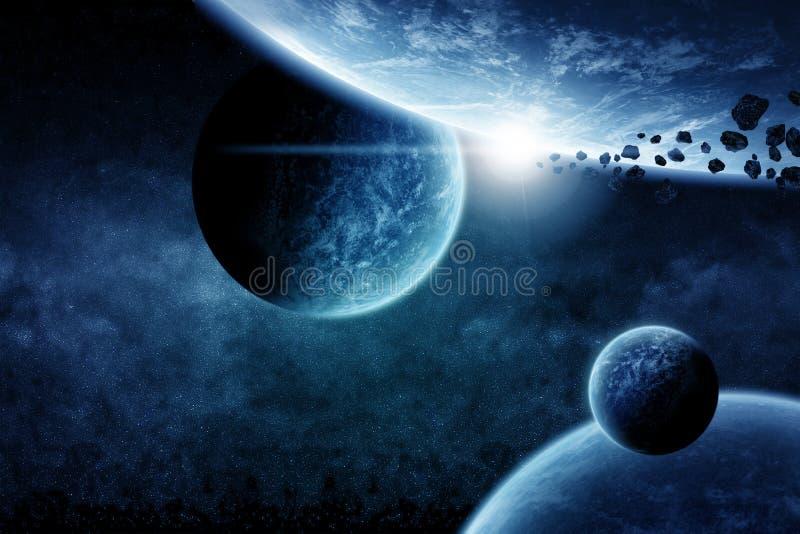 Illustration de l'espace de planète illustration libre de droits