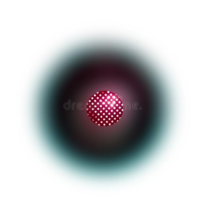 Illustration de l'idée de l'antimatière illustration libre de droits