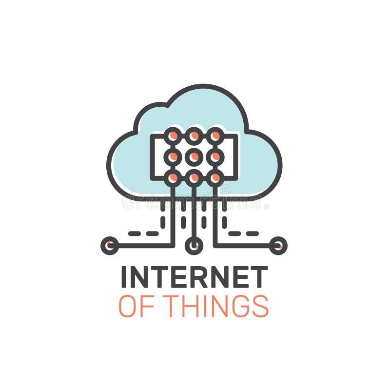Illustration de l'Internet des choses illustration libre de droits