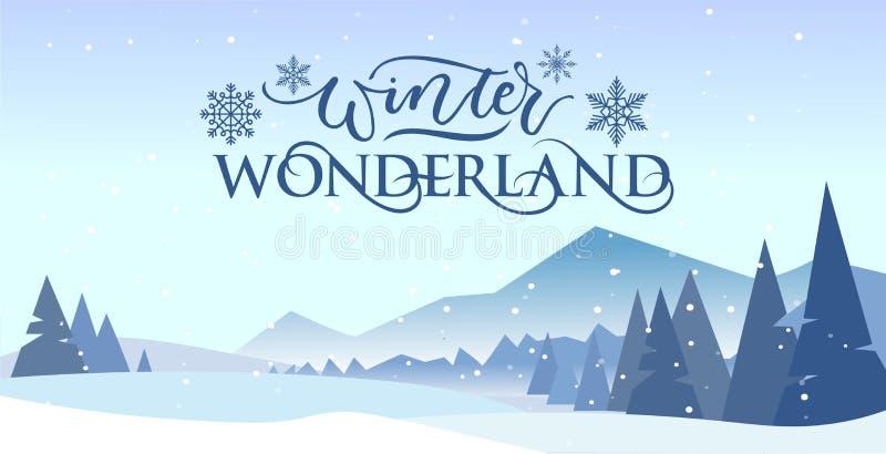 Illustration de la banderole de la carte postale du Winterland illustration de vecteur