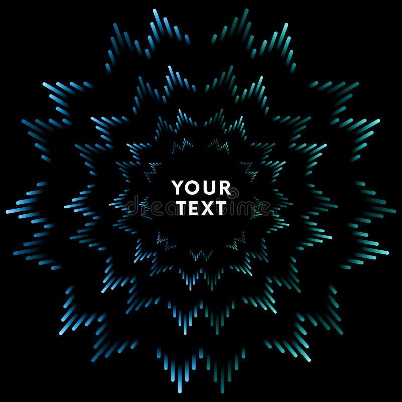 Illustration de la barre musicale bleue montrant le volume Fond bleu d'ondes sonores d'égaliseur de musique Vecteur illustration de vecteur