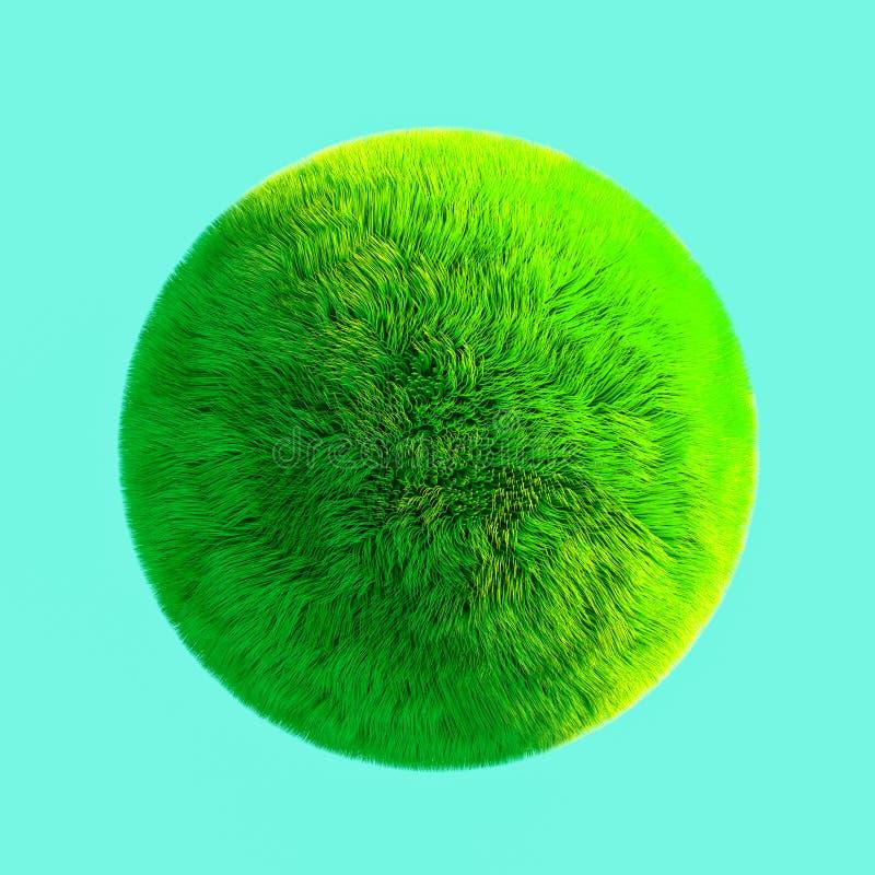 Illustration de la boule 3D d'herbe illustration stock