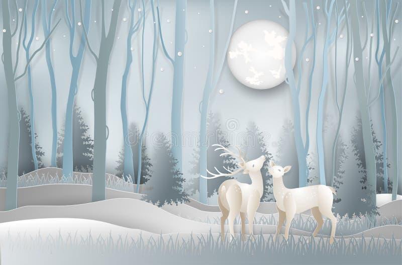 Illustration de la carte de voeux de jour de Joyeux Noël et de nouvelle année c illustration stock