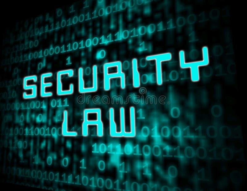 Illustration de la législation 3d de Digital de loi sur les valeurs mobilières de Cyber illustration stock