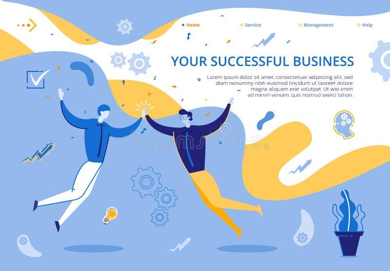 Illustration de la page d'accueil Votre entreprise prospère illustration libre de droits