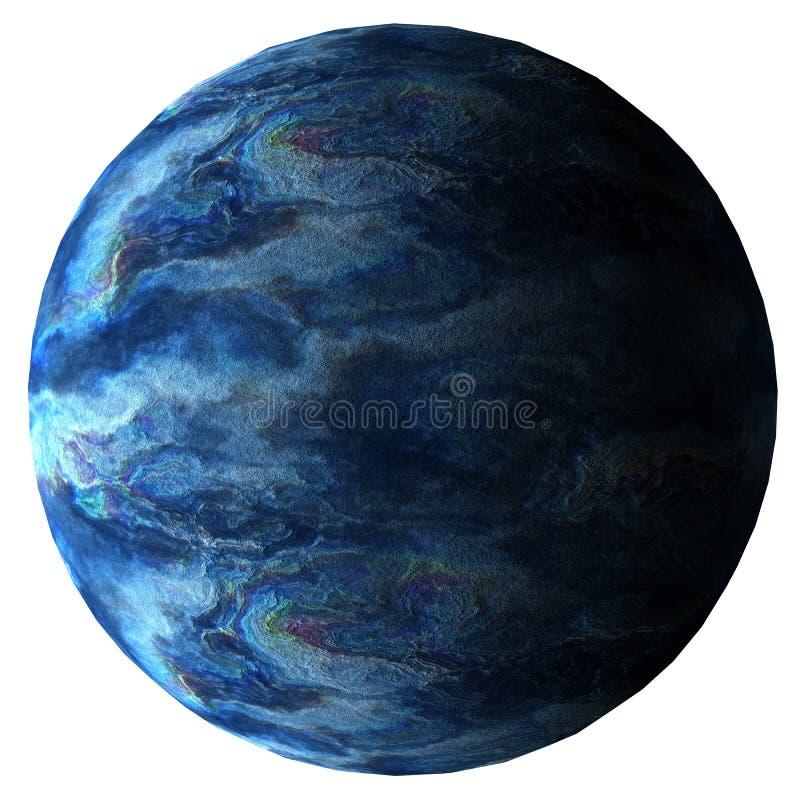 Illustration de la planète 3d d'imagination d'isolement sur le fond blanc illustration libre de droits