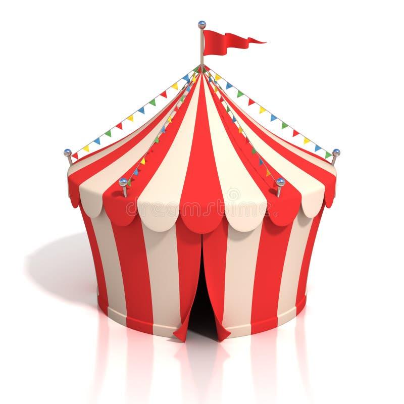 Illustration de la tente de cirque 3d illustration de vecteur