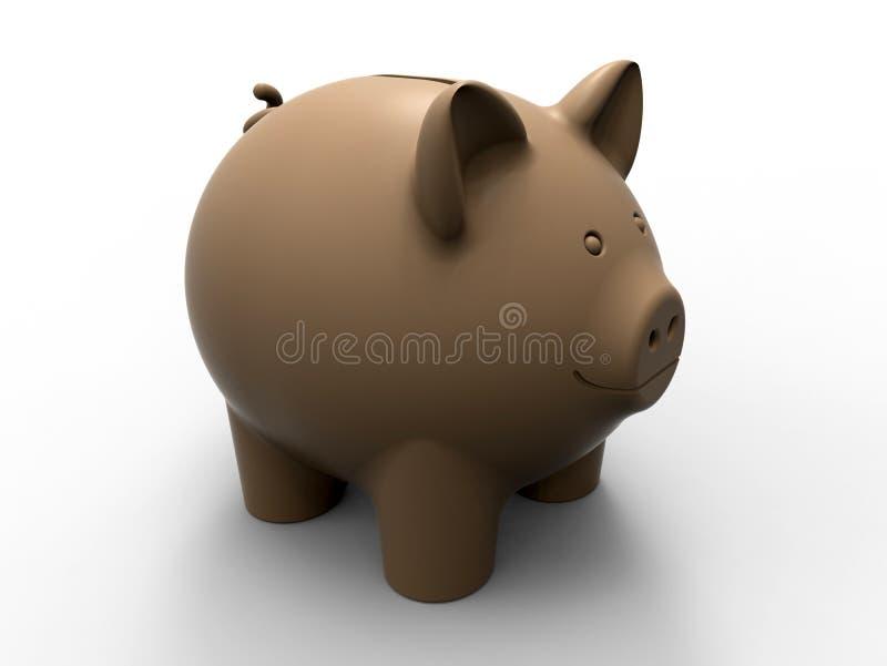 Illustration de la tirelire 3D d'argent illustration stock