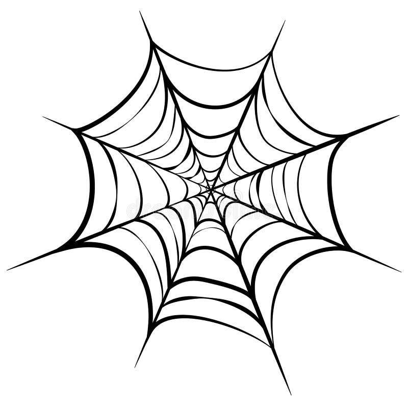 Illustration de la toile noire isolée sur fond blanc art en ligne de la toile d'araignée pour l'halloween silhouette cobweb illustration de vecteur