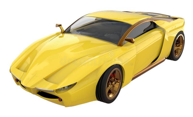 Illustration de la voiture 3d de concept d'isolement sur le fond blanc illustration stock