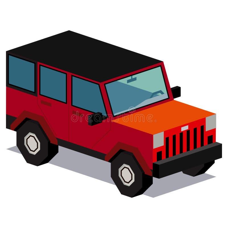 Illustration de la voiture 4x4 d'isolement sur le fond blanc illustration de vecteur