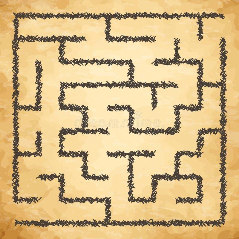 Illustration de labyrinthe illustration de vecteur