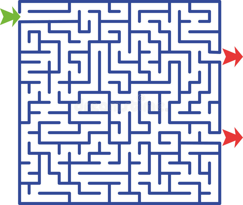 Illustration de labyrinthe   photo stock