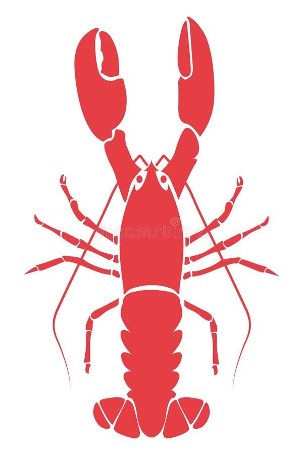 Illustration de langoustine illustration de vecteur