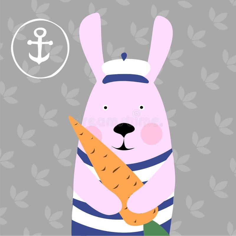 Illustration de lapin et de carottes photos libres de droits