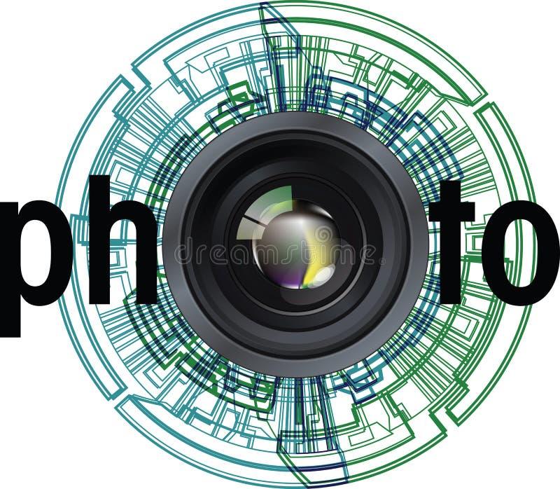 Illustration de lentille photographique illustration stock