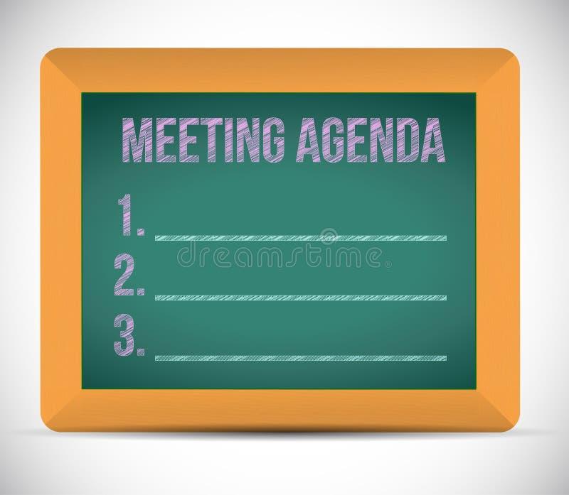 Illustration de liste d'ordre du jour de réunion illustration libre de droits