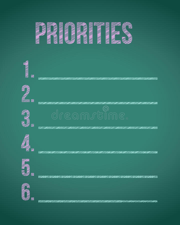 illustration de liste de tableau prioritaires illustration libre de droits
