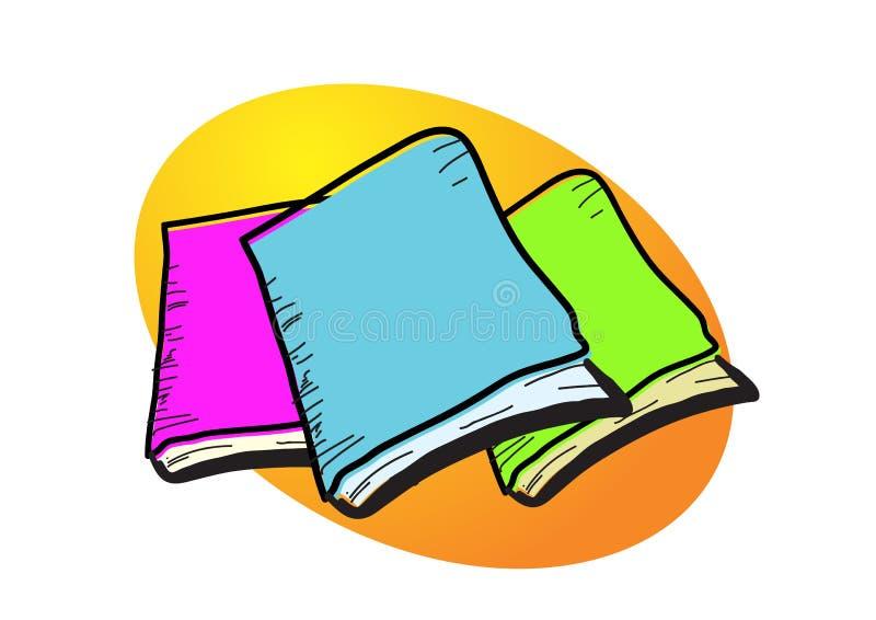 Illustration de livres illustration libre de droits