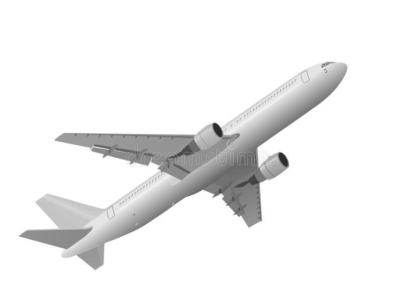 Illustration de Lke 3D du décollage d'avion photographie stock libre de droits