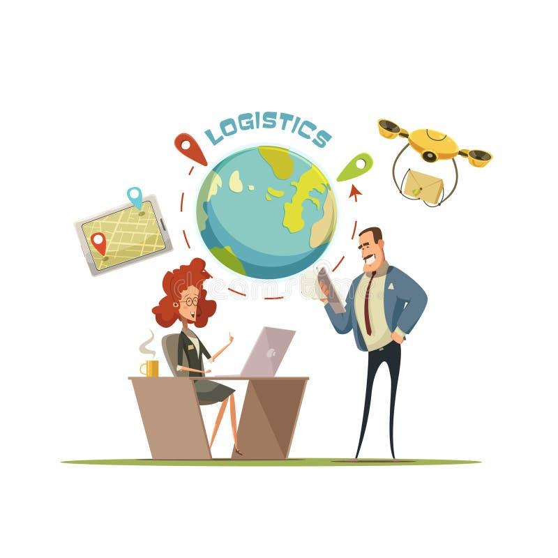 Illustration de logistique et de concept de la livraison illustration de vecteur