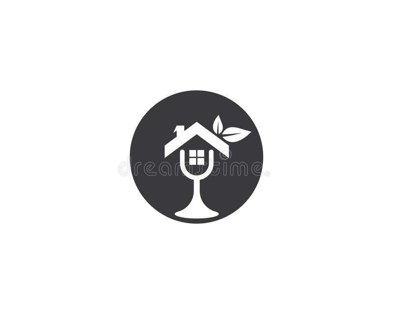 Illustration de logo de Chambre illustration de vecteur