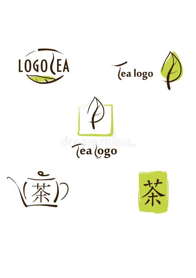 Illustration de logo, de graphisme et d'hiéroglyphe pour le soutien-gorge de thé illustration stock