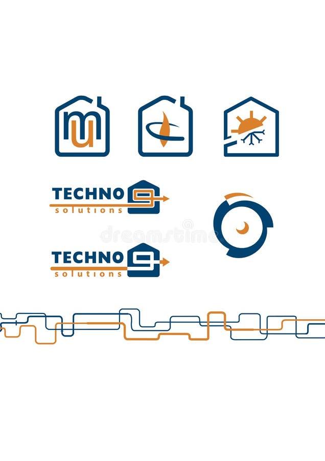 Illustration de logo, de graphisme et de configuration illustration de vecteur