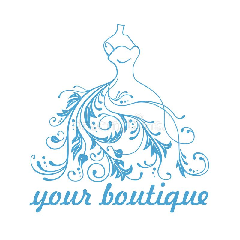 Illustration de Logo Design Template Vector Design de robe de robe de boutique illustration de vecteur