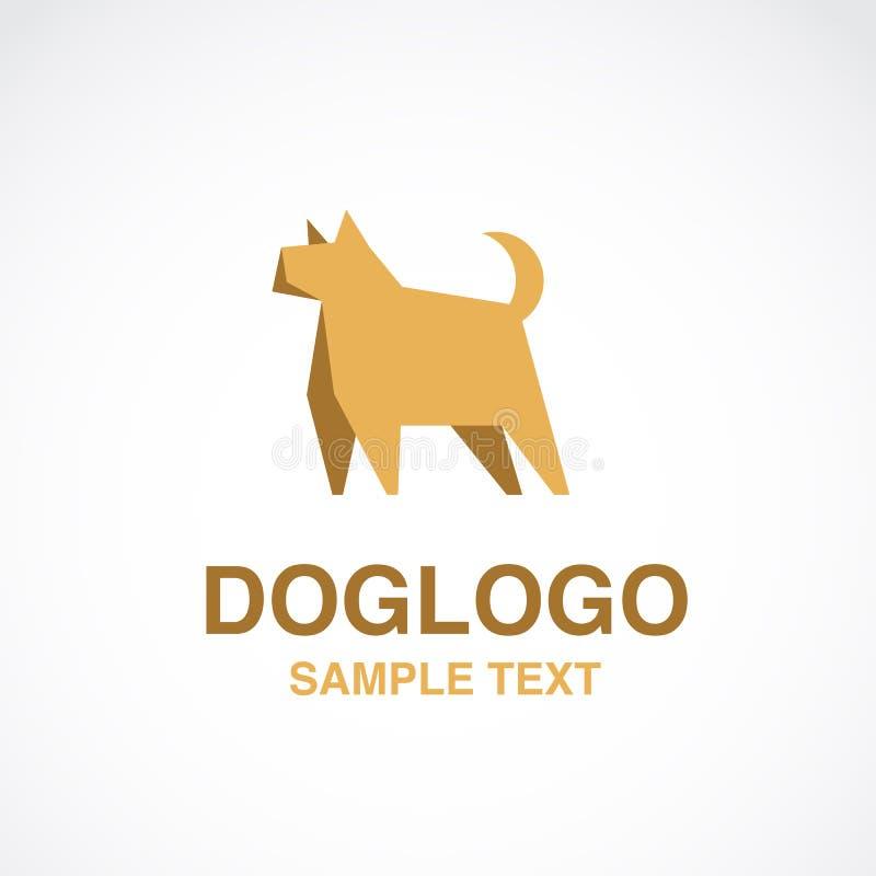 Illustration de logo mignon de chien sur le fond blanc images libres de droits