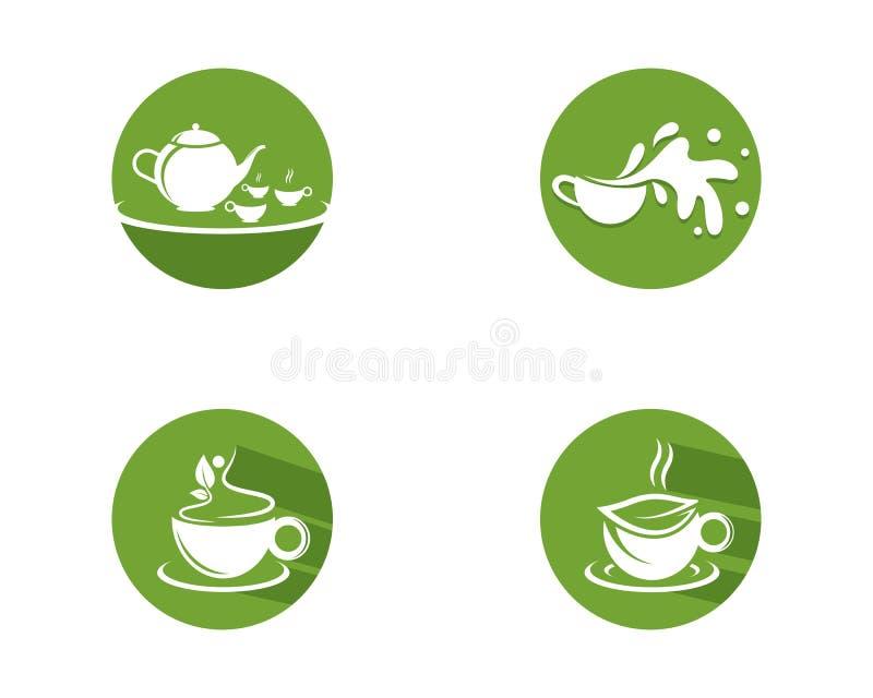 Illustration de logo de th? vert illustration libre de droits